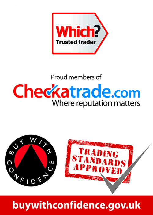 Approved by Trading Standards, Which? And Checkatrade.