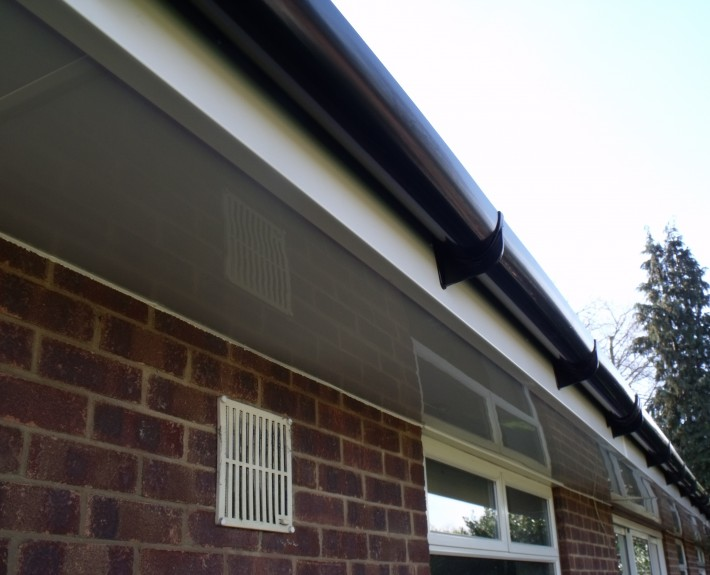 White UPVC Fascia and Soffit with Black PVC Gutter