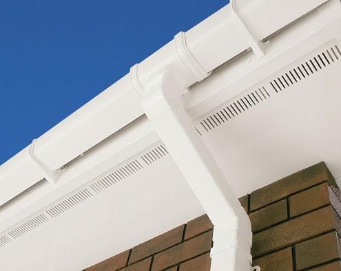 soffit upvc white ventilated