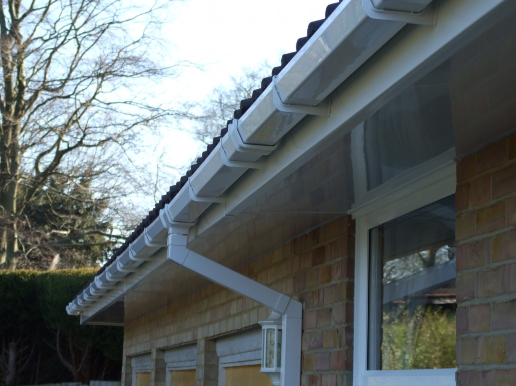 Installation Of White Upvc Fascias Soffits And Square Pvc Guttering To A 1970 S House In Sutton Surrey Homefront Roofline Ltd Of Surrey