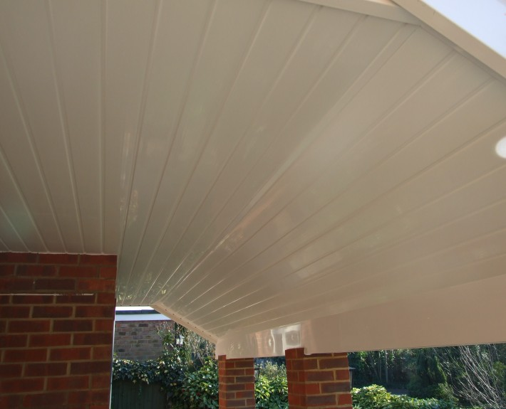 White UPVC Roof Cladding