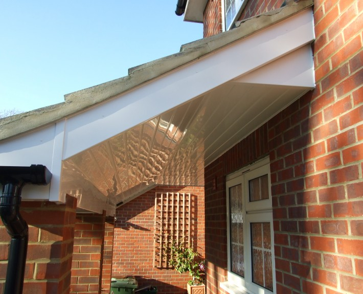 White UPVC Cladding and Barge-Board