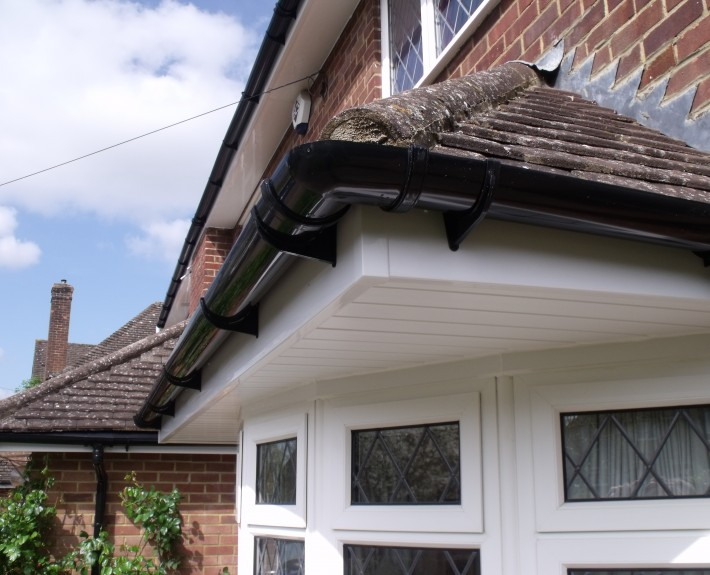 Cantilever Bay Window Guttering, Fascias and Soffits