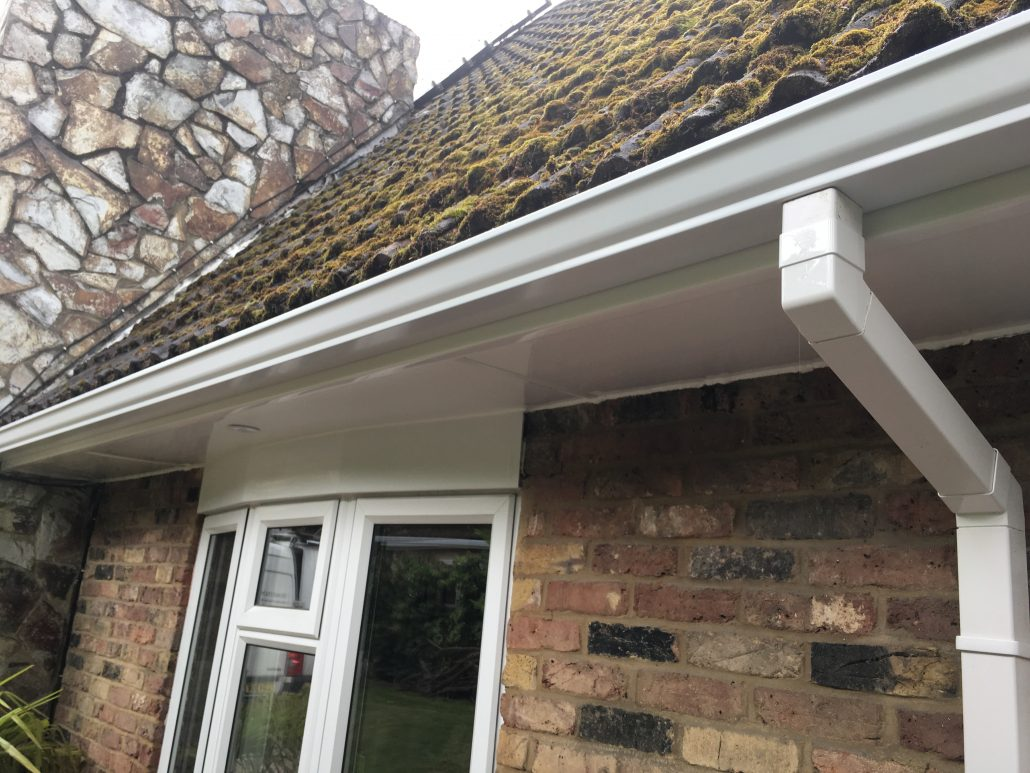 Installation Of White Fascias Soffits And Aluminium
