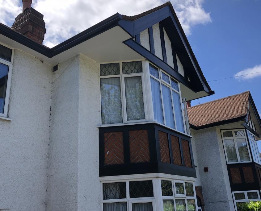Mock Tudor Soffits Gutters Ewell Surrey 2