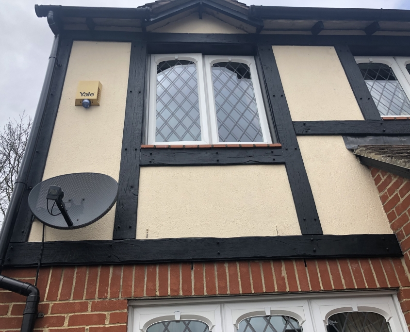 Mock Tudor Cladding Upper Front of House