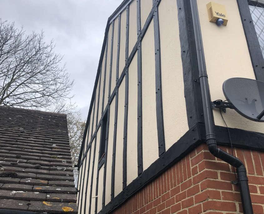 Mock Tudor Cladding Side View